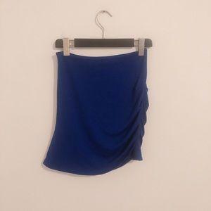 Aritzia blue bodycon ruched miniskirt XS SK